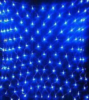 Электрогирлянда LED сетка голубой