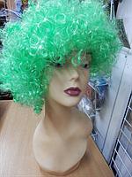 Парик карнавальный кучерявый зеленый