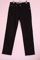 Мужские зимние джинсы черного цвета на флисе