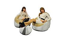 2 кресла из Флока + пуфик улик в подарок