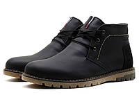 Ботинки зимние Hilfiger Denim мужские, черные, кожаные, фото 1