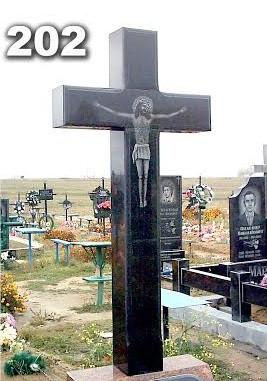 образцы гранитных крестов на могилу