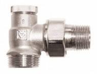 Вентиль запорный для обратной подводки радиатора ГЕРЦ-RL-1 ,угловой,3/4 x 1/2