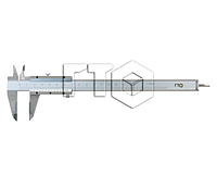 Штангенциркуль ШЦ-II-250 0,1           (губки 60мм)