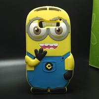Резиновый 3D чехол для Alcatel One Touch Pop C5 5036D Миньон