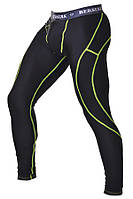 Компрессионные штаны с ракушкой для мужчин Berserk Sport черный/желтый