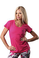 Женская футболка из натурального хлопка Berserk Sport малиновый
