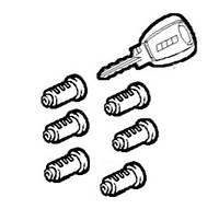 Комплект зажигания (2 ключа + 6 личинок) Fiat Doblo