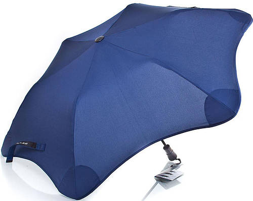 Красивый противоштормовой зонт женский полуавтомат BLUNT (БЛАНТ) Bl-xs-navy