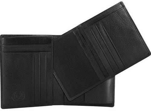 Стильное мужское портмоне  из натуральной кожи Wenger 2-05BK (черный)