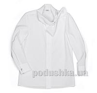 Блуза с бантом на вороте Юнность 266 белая 30 (Р-122, ОГ-60, ОТ-60)
