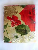 Постельное двуспальное белье с красными розами