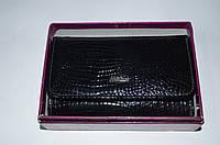 Женский кожаный кошелек W24 черный Henghuang
