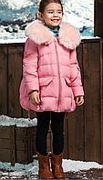 Детское зимнее пуховое пальто на девочку