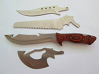 Охотничий набор (нож, тесак, топорик и пила)