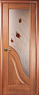 Амата+стеклоР1 -Золоткая Ольха (60, 70, 80, 90см). Коллекция МАЭСТРА. Межкомнатные двери Новый Стил