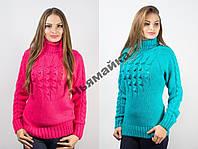 Теплый свитер женский под горло