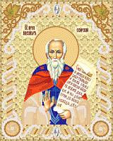 Ткань с рисунком для вышивки картин бисером Св. Прп. Александр Свирский РИК-5402