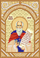 Схема икон для вышивки бисером Св. Прп. Александр Свирский РИК-6002