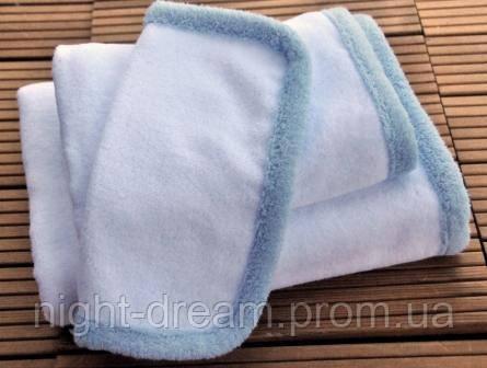 Детское полотенце от  Hamam Baby Child 30х30 бело-голубое