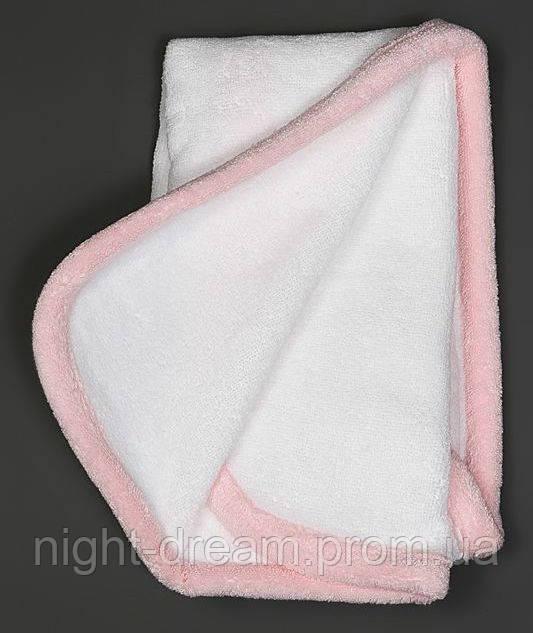 Детское полотенце от  Hamam Baby Child 30х30 бело-розовое