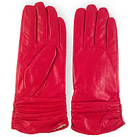 Модные женские перчати ( кожаные, зимние, красние, на флисе)