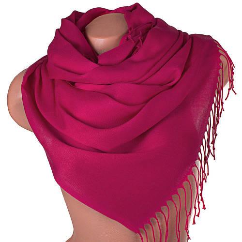 Яркий женский шерстяной палантин 170 на 65 см ETERNO (ЭТЕРНО) SAT11048 розовый