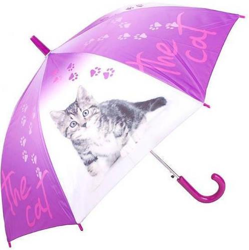 Яркий детский зонт-трость, полуавтомат DOPPLER (ДОППЛЕР) DOP72759K-2