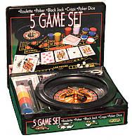 Покерный набор с рулеткой покер 5 игр мини-казино