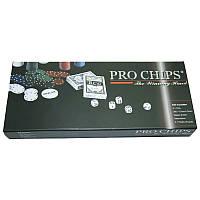 Покерный набор в коробке 300 фишек PRO CHIPS