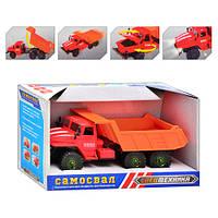 Инерционная игрушка Самосвал М 1356 UR: звуковые и световые эффекты, двери и капот открываются