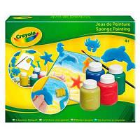 Набор для творчества Crayola рисование гуашью со штампами и валиком (5314)