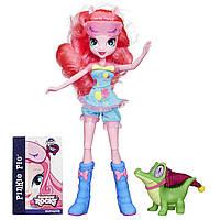 Пони Девушки Эквестрии кукла Пинки Пай и зверек Гамми.My Little Pony Equestria Girls