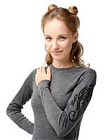 Термофутболка для девочек с принтом ящерицы Norveg Soft