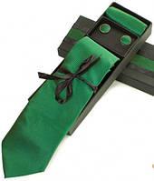 Блестящий подарочный набор из шелка для мужчин ETERNO (ЭТЕРНО) EG629 зеленый