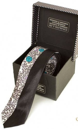Яркий узкий шелковый галстук ETERNO (ЭТЕРНО) EG619 разноцветный
