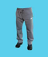 Брюки спортивные Adidas трикотажные,зимние.Серые.24154