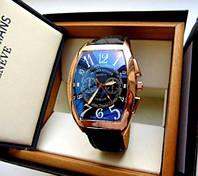 Мужские кварцевые часы Franck Muller темное золото