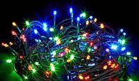 Гирлянда новогодняя 100 лампочек 4 цвета 8 режимов