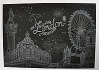 Скретч картина ночного Лондона