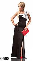 Длинное женское платье с разрезом