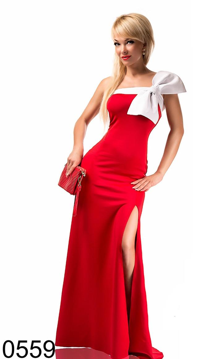 Платья с бантом на плече