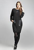 Женская туника черного цвета из ангоры, фото 1