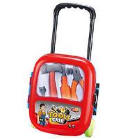 Набор инструментов в чемодане на колесиках