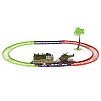 Детская военная железная дорога Na-Na на заводном механизме Military IM59D