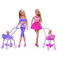 Кукольный набор Штеффи и коляска с малышом, в ассортименте (573 3067)