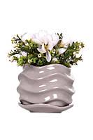 Горшок цветочный ETERNA PT 201-16 SS морской камень (19*19*16 см)