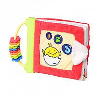 Мягкая игрушка книжка для малышей с цифрами  15 см IK64
