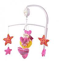 Детский музыкальный мобиль звездный мишка (розовый) IK61