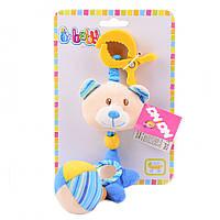 Детская музыкальная подвесная игрушка медвежонок (в ассортименте) IK53